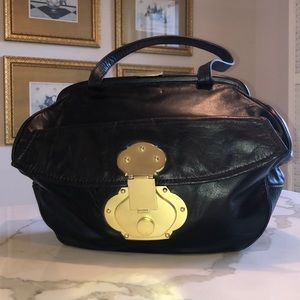 Cynthia Rowley black bag with gold closure detail